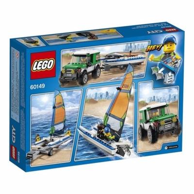 Lego 60149 City Catamarano+4x4